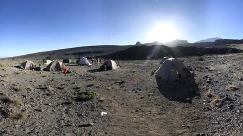 Kilimanjaro, Tanzania. Rifugio Moir.