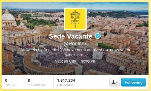 "L'account Twitter della ""Sede Vacante"""